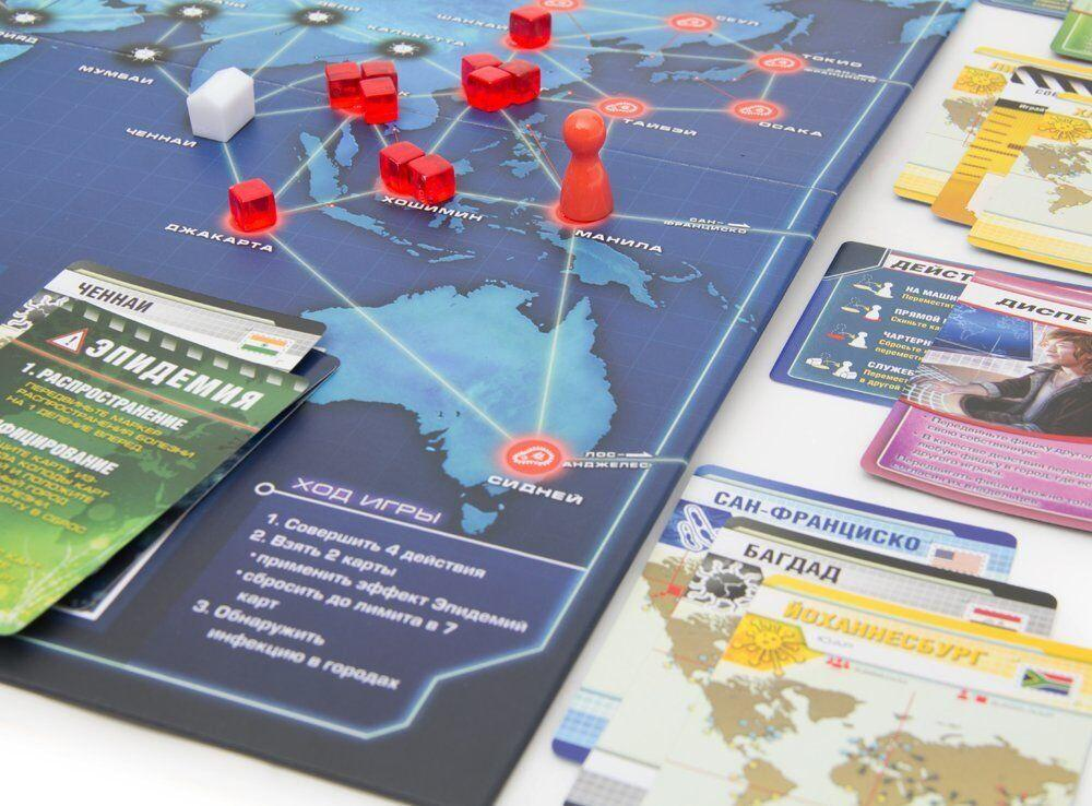 Настольная игра Пандемия: дружная команда спасает мир